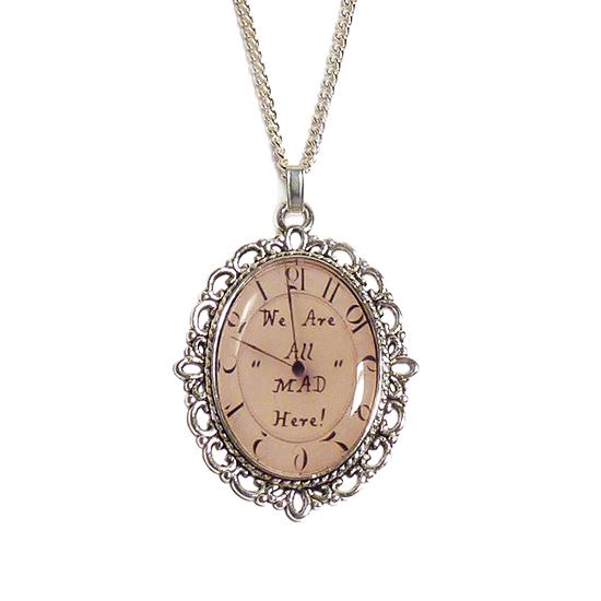 Cheshire Cat Necklace 16 Inches Wonderland Jewelry Alice in Wonderland